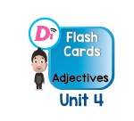 Adjectives Digital Flashcards Unit 4