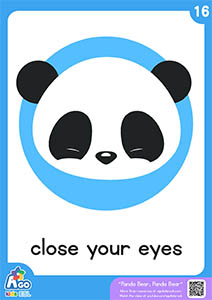 Panda bear flashcards