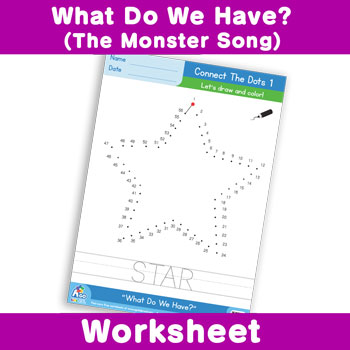 What Do We Have? (The Monster Song) Worksheet - Connect The Dots 1
