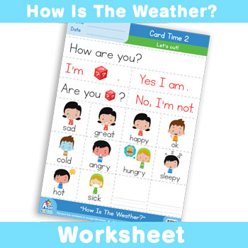 How Is The Weather? Worksheet - Card Time 2