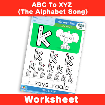 ABC To XYZ (The Alphabet Song) - Lowercase k
