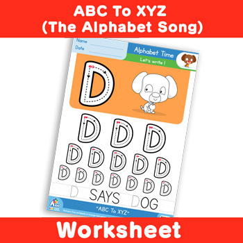 ABC To XYZ (The Alphabet Song) - Uppercase D