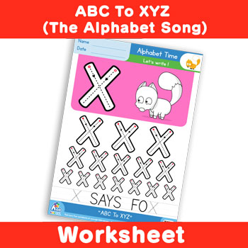 ABC To XYZ (The Alphabet Song) - Uppercase X