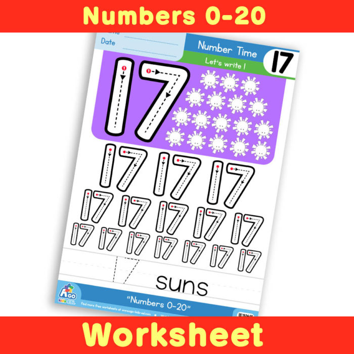 Free Number Writing Practice Worksheet 17