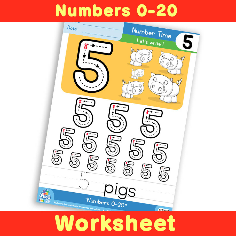 Free Number Writing Practice Worksheet 5
