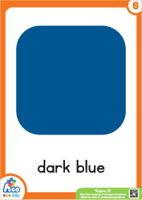 Advanced Colors Educational Flashcard Set - Dark Blue