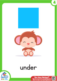 How Many Monkeys Flashcards - Under