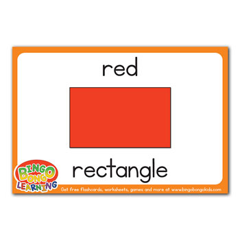 red rectangle flashcard