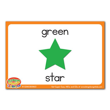 free esl flashcard green star