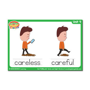 Unit 9 flashcard careless careful