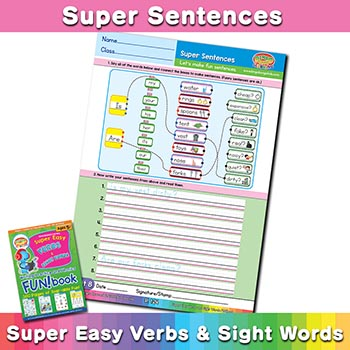 free English sentence worksheet