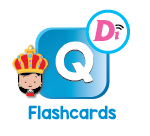 Digital Interactive English Flashcards Letter Q