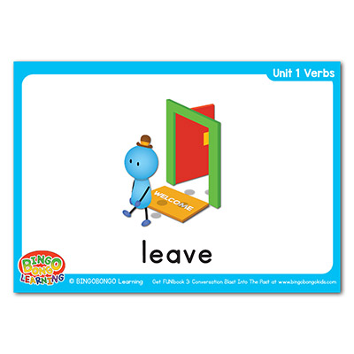 Verbs Flashcards 11 leave