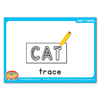 Verbs Flashcards 3 trace