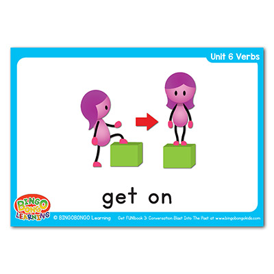 Verbs Flashcards 82 get on