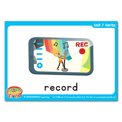 Verbs Flashcards 99 record