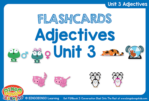 Free Adjectives Flashcards FUNbook3 Unit 3