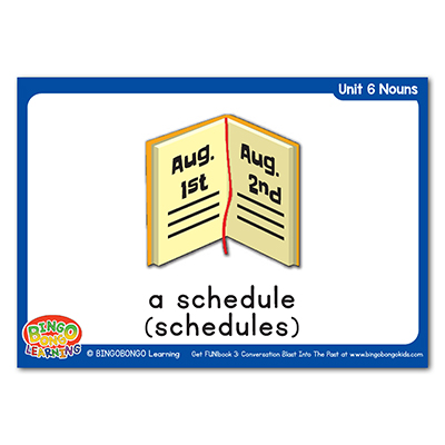 Free Nouns Flashcards 87 schedule