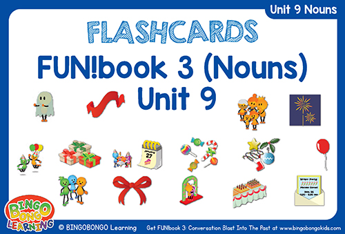 Nouns Flashcards Unit 9 holiday words