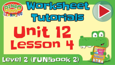 worksheet tutorial video l2 u12 l4