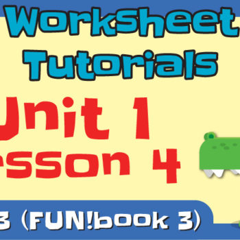 worksheet tutorial video l3 u1 l4